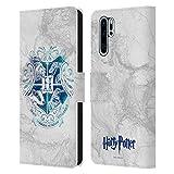 Head Case Designs Licenciado Oficialmente Harry Potter Hogwarts Aguamenti Deathly Hallows IX Carcasa de Cuero Tipo Libro Compatible con Huawei P30 Pro