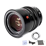 7artisans 35mm F1.4 Large Aperture Full Frame Manual Focus Prime Lens for Leica M-Mount SL, TL, CL Series Cameras