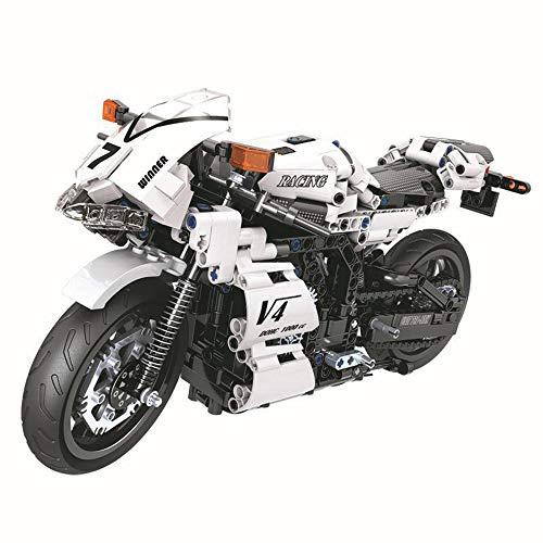 Technik Motorrad Rennmaschine Konstruktionsspielzeug 716 Teile