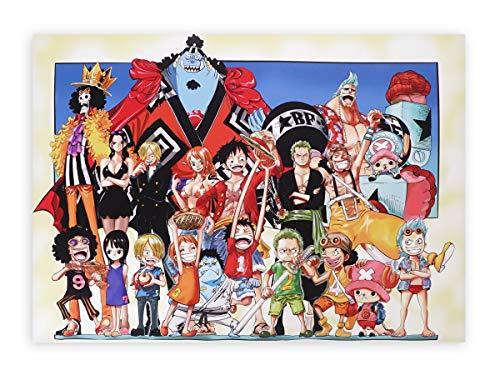 CoolChange Hochwertiges Onepiece Wandbild auf Hartschaumplatte | Poster 42x30cm | Motiv: Strohhutbande