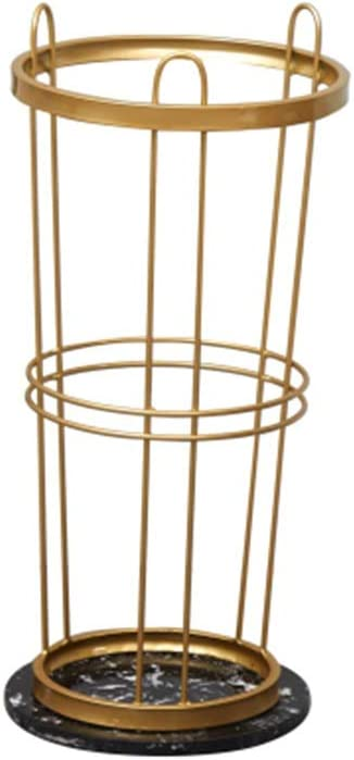 GWDJ Umbrella Stand New product! New type Columbus Mall Shelf Metal Marble
