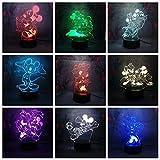 Parque de atracciones Imagen de dibujos animados LED Luz de noche creativa Buen amigo Forma Luz Kid Sleep Decoración 3D Lámpara de mesa Niños Juguete Regalo LED Lámpara de lectura