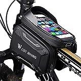 WESTGIRL Fahrrad Rahmentasche wasserdicht - Fahrradtasche Oberrohrtasche Handy Tasche geeignet für 6,2' Smartphone, Sensitive Touch-Screen, große Kapazitätstasche, vollständig wasserabweisendes