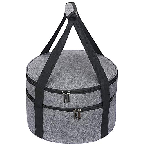 """12.5"""" Pie Carrier, Salad Bowl Size Carrying Case, Insulated Potluck..."""