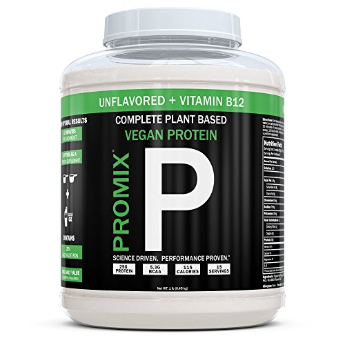 ProMix Nutrition Unflavored Vegan Plant Based Protein Powder, 1 Pounds