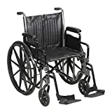 McKesson Standard Wheelchair with Swing Away Footrests - Swing-Away Footrests, 20' Seat, 350 Lbs. Capacity - 62164201