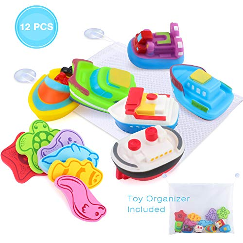 Glonova Bad Spielzeug mit Organizer, 13 Stück, Kinder Wasserspielzeug für Badewanne, Strand