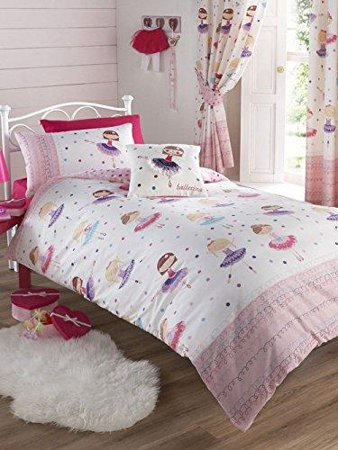 BALLERINE seule couette + Matching entièrement doublé rideaux 66 x 72 + autocollant gratuit papillon Sparkle