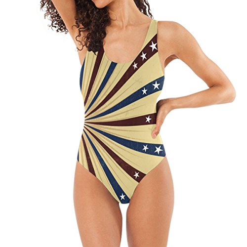 DXG1 Sexy de una pieza en forma de U traje de baño raya