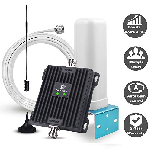 Repetidor gsm 3G UMTS Amplificador de Señal de Teléfono Celular EGSM 900 WCDMA 2100MHz con Kit Antenas Omni