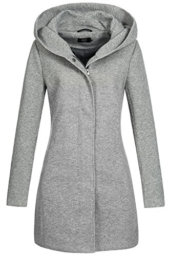 Only onlSEDONA Coat OTW Noos Abrigo, Gris (Light Grey Melange), 40 (Talla...