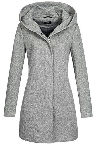 ONLY Female Mantel Klassischer Slight Grey Melange