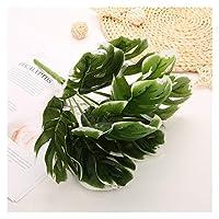 造花 新しい人工低木創造的な装飾的な人工植物のシミュレーションの植物のプラスチック花植物タートルの葉のアクセサリー (Color : Orange)