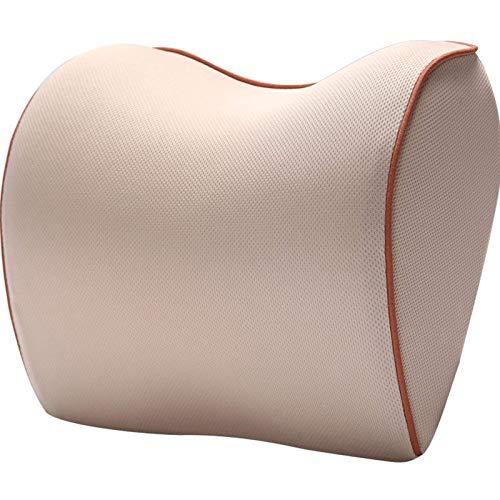 JONJUMP Almohada de asiento de coche reposacabezas espuma de memoria almohada de viaje masaje silla de oficina apoyo lumbar cojín auto accesorios