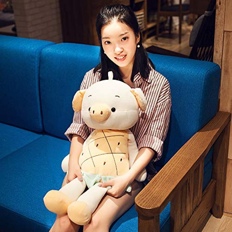 BAONZEN Plush toy super cute pig rabbit ins doll doll doll, yellow pineapple pig, 40CM