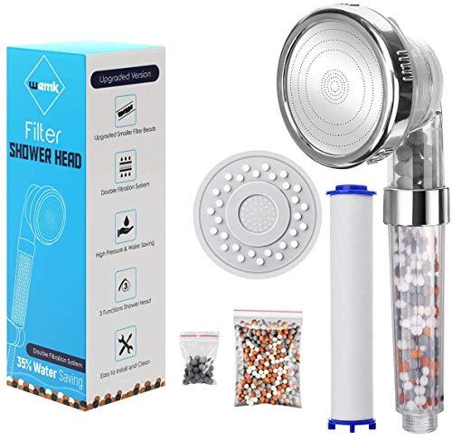 SHS Duschkopf, Ionenfilter-Handbrause, wassersparender Duschkopf, Eco Spa-Druckhandbrause, dreischichtige Filterdusche (Farbmischung)