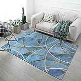 NF Alfombra rectangular HUIPENG para sala de estar, dormitorio, diseño nórdico, moderno, geométrica, abstracción, antideslizante, alfombra de cocina