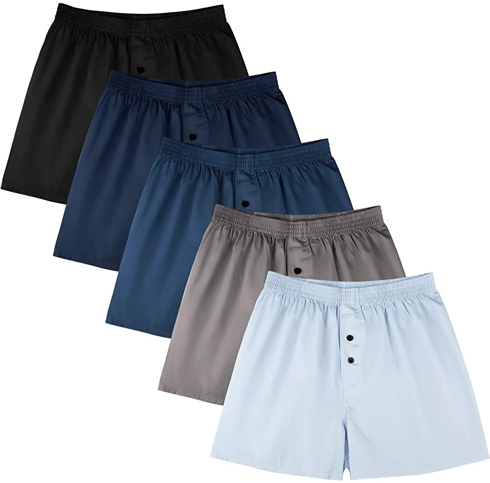 Natural Feelings Classic Boxers Shorts Cotton Woven Mens Underwear Boxers Pack