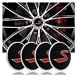 RVTYR 4 STÜCKE Rad HUB Center CAPS, 56mm Rand Center Caps Emblem, für Mini Cooper R50 R52 R53 R56 R57 R60, Auto Styling Zubehör...