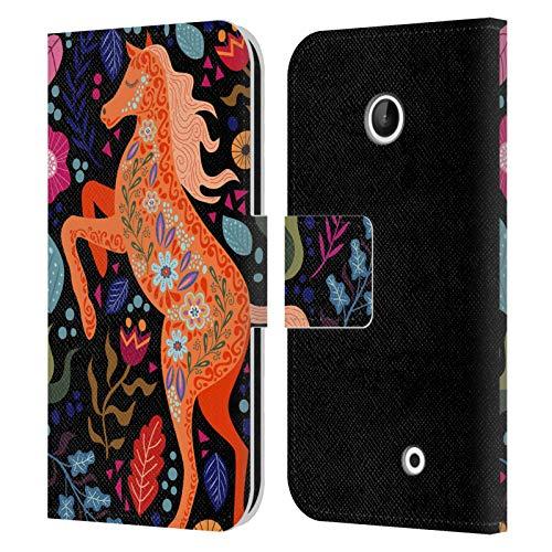 Head Case Designs Ufficiale Haroulita Cavallo in Fiore Foresta Cover in Pelle a Portafoglio Compatibile con Nokia Lumia 630