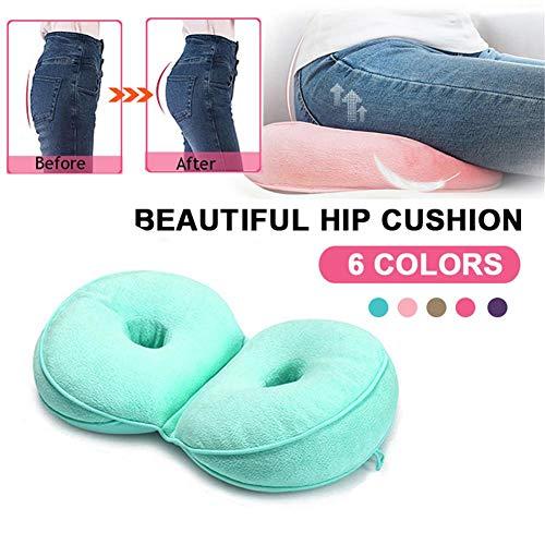 Cojín Dual Comfort Cushion Lift Hips Up - Cojín ortopédico antideslizante multifunción para aliviar el dolor de espalda y la ciática, para silla de oficina en el hogar Asiento de automóvil