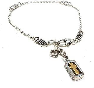Eternity Heart Anklet Bracelet 9.75