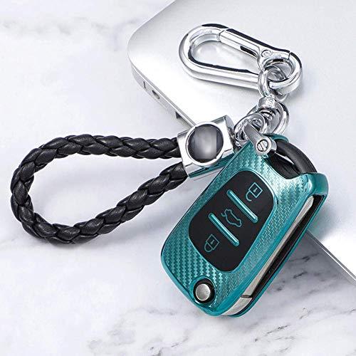 TPU Car Key Case Cover Accesorios, para Kia Ceed Picanto Sportage, para Hyundai i30 ix35 (azul)
