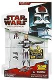 Clone Commander Stone CW44 Star Wars Clone Wars - Figura de acción