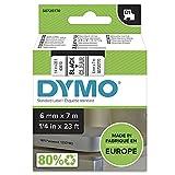 DYMO D1-Etikettenband Authentisch | schwarz auf transparent