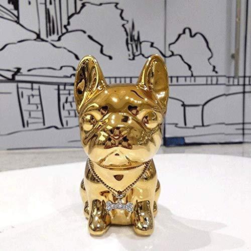 DNSJB Crafts Decoración de cerámica chapada en oro y plata
