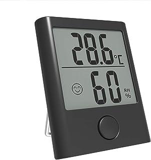 CCChaRLes Mini Lcd Digital Thermometer Hygrometer Meter Humidité Indoor Room - Noir