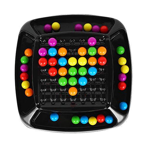 miuline Rainbow Ball Elimination Game,Regenbogenball Matching Spiel Lernspiel Set Für Kinder Logikspiel Magisches Denkspiel Brettspiel für Kinder Erwachsene