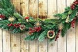 com-four® 56-teiliges Strohsterne Set - Christbaum-Schmuck - Stroh-Anhänger für den Weihnachtsbaum - natürlicher Christbaum-Behang - Weihnachtsdekoration - Ø 6 cm - 2