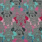 Sweatstoff Disney Minnie Maus, Öko-Tex Standard 100, grau