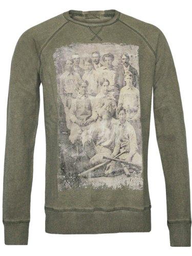 Athletic Vintage New York Homme Designer Pullover Longsleeve - Team -L