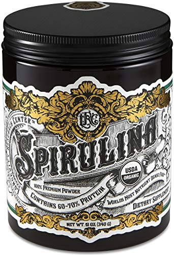 Longevity Research Center - Premium Organic Spirulina Powder | 12 oz. (340 g) - 100% Indoor-Grown Micro-Algae - Raw and Unprocessed