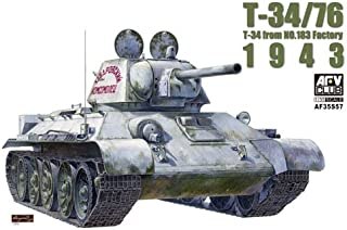 T-34/76 Model 1942/43 Factory No.183 Tank w/Clear Turret/Hull 1-35 AFV Club
