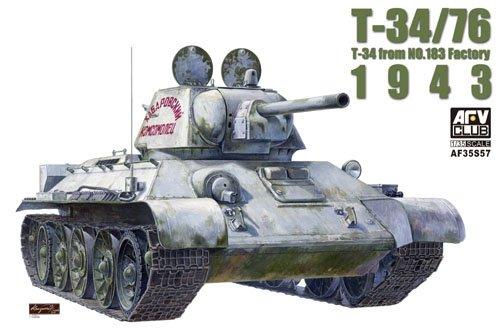 AFV Club 1:35 - Soviet T-24/76 1943 Factory 183 w/Transparent Turret & Upper Bod (AFV35S57)