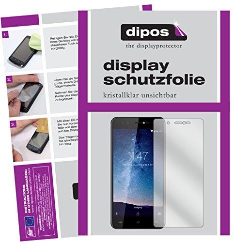 dipos I 2X Schutzfolie klar kompatibel mit Cubot R9 Folie Displayschutzfolie