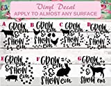 4H Decal, 4H Sticker, Stock Show Life, Show Life Decal, Grow Show, FFA Decal, Show Mom, Farm Animal Decal, Show Heifer, Show Goat, Show Pig, Show Chicken, Show Lamb, Show Sheep, Show Rabbit