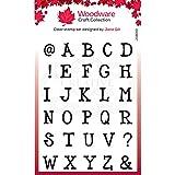 Woodware Jane Gill-Set di timbri magici Trasparenti, con Lettere dell'alfabeto, A5 Size Stamp