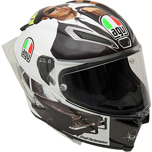 AGV Pista GP R Casco - Misano 2016 (pequeño-mediano) (negro/blanco)