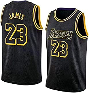 a72c8a508 Mitchell & Ness Men's Los Angeles Lakers Lebron James Fast Break Replica  Jersey #23