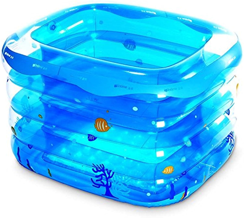 Folding Bathtub NAUY@ Inflatable Swimming Pool Inflatable Swimming Pool Thickened Thermal Bath Bathroom Fixtures