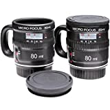 Micro Focus Camera Lens Espresso Mug Set -- Includes 2 Espresso Mugs by NuOp Design