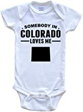 Somebody in Colorado Loves Me Baby Onesie - Colorado Baby Bodysuit