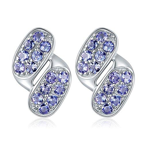 hutang Edelstein Schmuck 925Sterling Silber massiv natur Tansanit Ohrringe Feiner Fashion Jewelry für Geburtstag Geschenk New Arrival