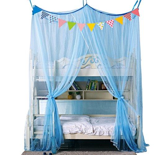 Star store Moskitonetz Zelt für Etagenbett Netting Baldachin Vorhänge einziehbar frei Installation Anti Insektenbisse Bildschirm Home Deco Full Size (Farbe : Grau, größe : 2m*1.2m*2.6m)