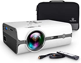 VANKYO Leisure 410 LED Projector with 3600 Lux, Carrying Bag and HDMI Cable, Portable Projector Supports 1080P, HDMI, USB, VGA, AV, SD Card, Compatible with PS3/PS4