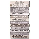 Lighthouse Christian Products On The Journey God Will Rustic Stacked Pallet 8.5 x 16.5 Wood Plaque